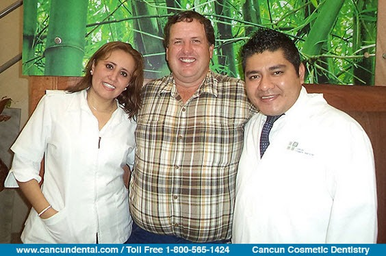 Dentists in Mexico with a canadian patient that looked for dental tourism.