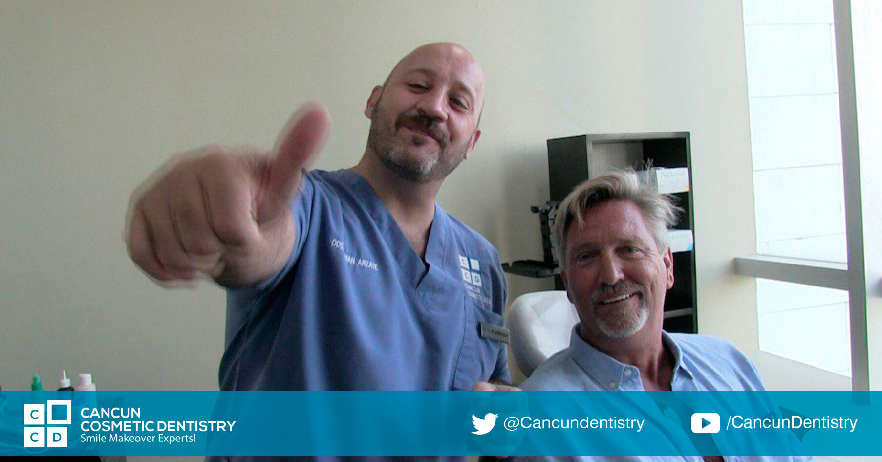 Cancun Cosmetic Dentistry has warranty on their dental pieces! Doctor German Arzate