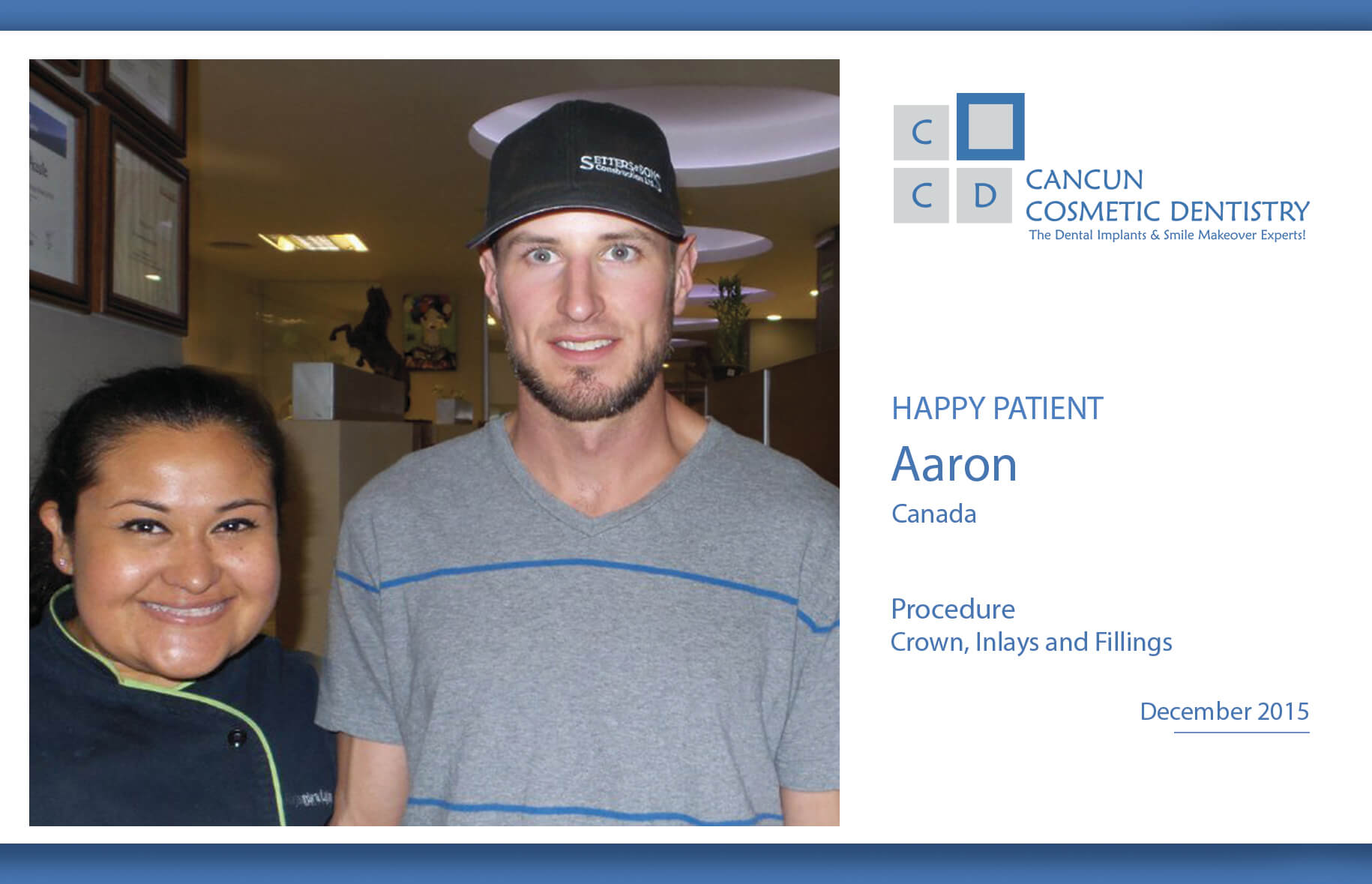 Affordable dental crowns, inlays, onlays, fillings, dental cleanings in Cancun Cosmetic Dentistry