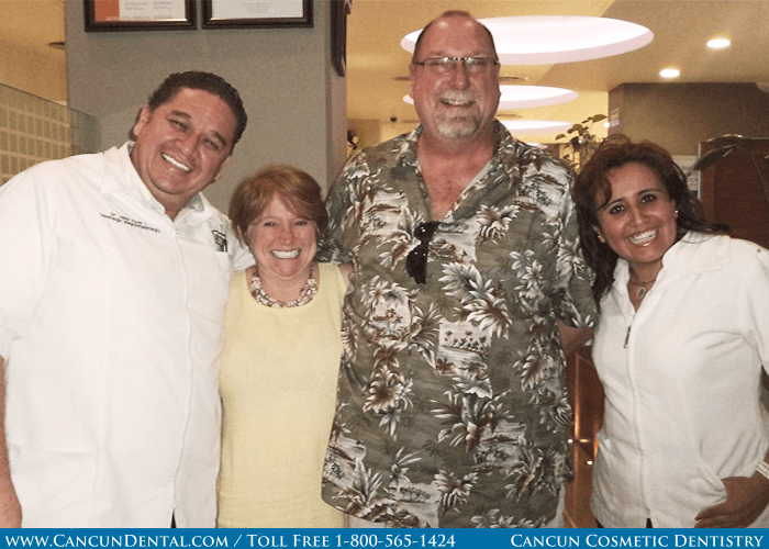 Our Mexican dentists with an American patient.