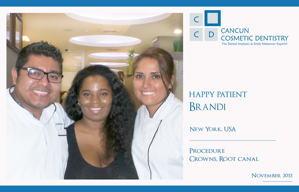 Patient happy with dentists in Cancun